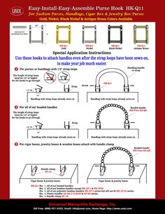 Book Purse Instructions | Purse, Handbag, Cigar Box > Hooks > How To Make A Purse Instructions ...
