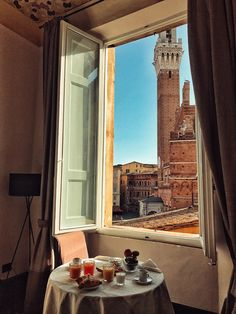 Good morning Siena! breakfast in the room before the city tour. Breakfast with a view, suites with a view. Bella Italia!