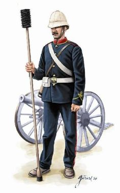 Zulu War 1879 British Artillery British Army Uniform, British Uniforms, British Soldier, Military Art, Military History, Military Uniforms, British Armed Forces, African American History, Native American