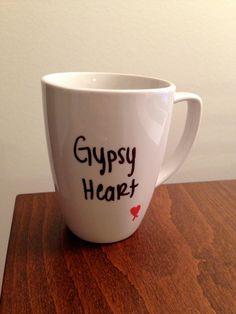 Gypsy Heart lyric mug. $15.00, via Etsy.