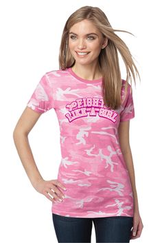 0e4d5d4f Check out this cool Ladies' Camo Shirt,perfect for Pink Ribbon designs!
