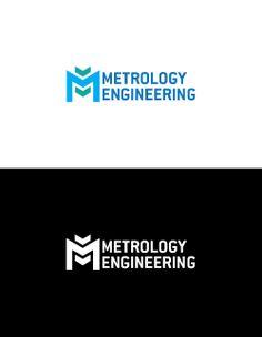 Metrology engineering logo desined by darren design Logo Color Schemes, Construction Logo Design, Blue Colour Palette, Professional Logo Design, Logo Design Services, Corporate Design, Business Branding, Typography Design, Creative Design