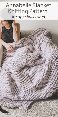 Easy Blanket Knitting Patterns, Knitted Afghans, Knitted Throws, Easy Knit Blanket, Afghan Patterns, Loom Patterns, Stitch Patterns, Cable Knit Blankets, Cable Knit Throw