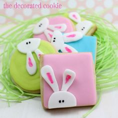 The Cottage Market: Easter Treats Galore and a Free Printable Recipe Card for Spring-sharing the decorated cookie's adorable bunny cookie