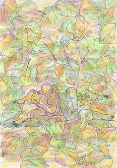 Liberisliber, fulles i fulls, del punt  5-10-15 pintat  cafè retolador llapis fusta Dolors Buch Castañer