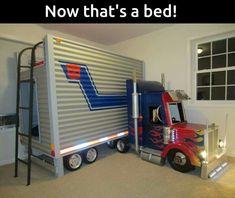 Boys bed...so cute!