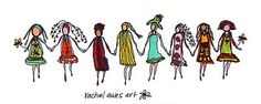 gorgeous friendships - love the art by @Rachel Awes (she's awesome!)