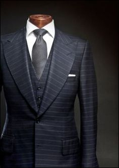 horizontal stripe suit. lines consistency is remarkable.
