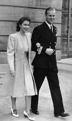 Princess Elizabeth and Phillip, July 1947