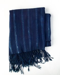 - OVERVIEW - Beautiful hand-woven and dyed indigo cotton blankets from the Dogon tribes of Mali. Some pieces are dyed using a resist technique and others are pure blue; all are gorgeous. We seek out t
