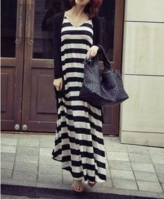 Black Loose Coat with Open Front