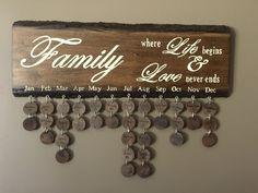 Wood Family birthday sign