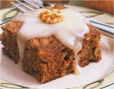 This is, hands down, my most requested dessert. I found this recipe in Taste of Home Contest Winning Recipes 2004 and I've been making it s. Cookie Cake Pie, Cake Cookies, Cinnamon Roll Waffles, Walnut Cake, Cafe Food, Butter Sauce, Apple Cake, Sugar And Spice, Let Them Eat Cake