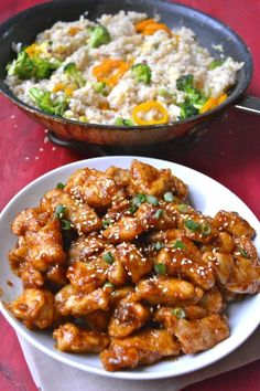 Spicy Kung Pao Chicken, way better than take out! #glutenfree www.maebells.com