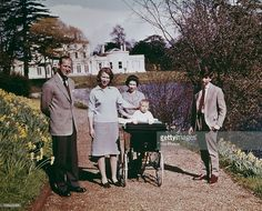 Queen Elizabeth II and Prince Philip, Duke of Edinburgh and their children at Windsor on the Queen's 39th birthday, April 1965. Left to right: Prince Philip, Princess Anne, Queen Elizabeth, Prince Edward and Prince Charles.