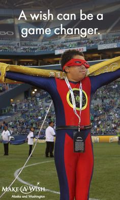 Erik wished to be a superhero so he could 'be strong and help others.' // Make-A-Wish Foundation