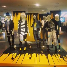 """H&M,Oxford Circus, London, UK, """"Dripping fashion..."""", pinned by Ton van der Veer"""