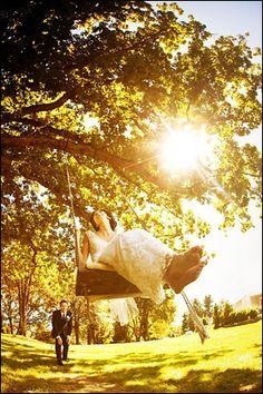 Swinging from the big oak tree :)