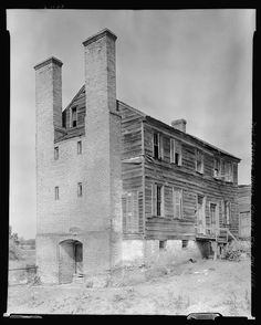 Port Tobacco Houses,chimneys,Charles County,MD,Maryland,Architecture,South,1936