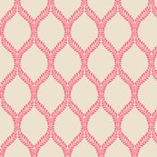 @Jamie Vaughn Coral Leaves fabric from spoonflower for an accent pillow