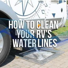 out your water lines will help ensure that your hoses are free of gunk and your drinking water tastes fresh.Cleaning out your water lines will help ensure that your hoses are free of gunk and your drinking water tastes fresh. Camper Life, Rv Campers, Rv Life, Happy Campers, Tiny Camper, Do It Yourself Camper, Rv Camping Tips, Camping Ideas, Camping Essentials