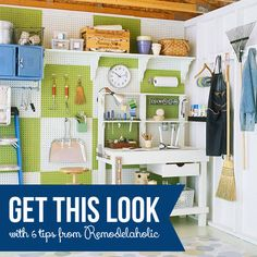 Get This Look - Simple Garage Organizing - Tips to Organize Your Garage from Remodelaholic.com #garage #organizing #tips @Remodelaholic .com .com