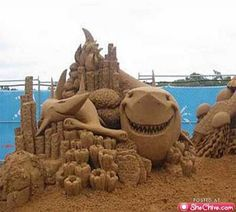 Sandcastle Sculpture Art Photo Gallery : theBERRY