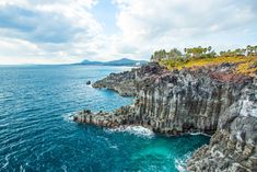 Photo about Jeju do Island seashore Jusangjeollidae, South Korea. Image of shape, korea, green - 44422002 Isla Jeju, Korea Tourism, Jeju Island, Where To Go, South Korea, The Good Place, Places To Visit, Tours, Stock Photos