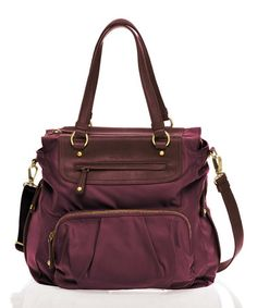 Take a look at this Plum Allure Tote by TWELVElittle on #zulily today!