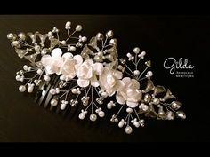 Как собрать свадебный гребень для волос - влог Gilda