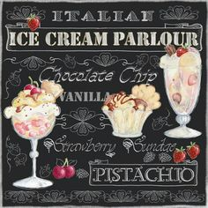Ice cream or gelato anyone? These fun paper napkins are waiting for your late summer get~togethers or a  yummy decoupage project.