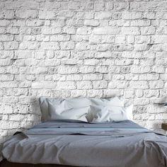 Fototapeta z motywem jasnej cegły #cegła #art #tapeta #wystrój #dekoracja #ściana #wall