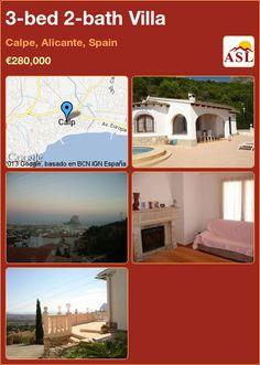 3-bed 2-bath Villa in Calpe, Alicante, Spain ►€280,000 #PropertyForSaleInSpain