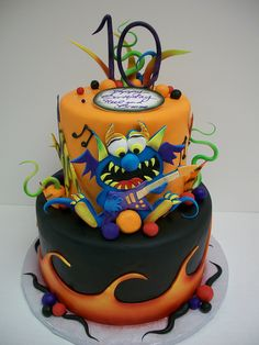 Rock and Roll Monster Cake by Phoenix Cake Company