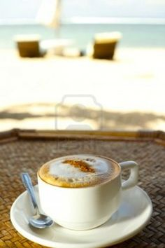 coffee on the beach - 2 of my favourite things together = vacation