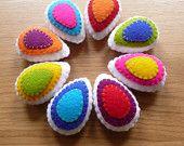 Colorful felt easter eggs (Set of 8). $24.99, via Etsy.