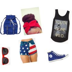 """USA Forth of July Outfit"" by booda2kk on Polyvore   go check out my Polyvore account! http://booda2kk.polyvore.com/"