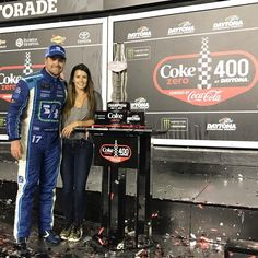 "Danica Patrick on Instagram: ""Another great day! @stenhousejr got a win at @disupdates!!!!"""