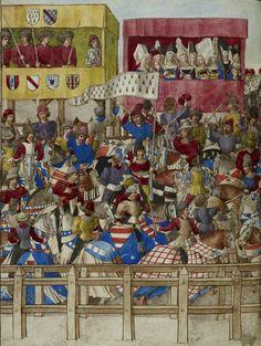 Manuscript (1401-1500) by René D'Anjou - How to do tournaments