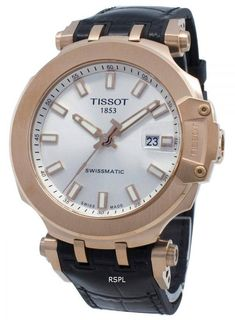 Tissot T-Race Swissmatic 19 Jewels Automatic Herrklocka - citywatches. Tissot T Race, Le Locle, Automatic Watches For Men, Free Clothes, Watch Brands, Stainless Steel Case, Rose Gold, Jewels, Crystals