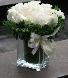White roses, symbolizing both purity and new beginnings, are fitting flowers to send your spouse on #NewYears