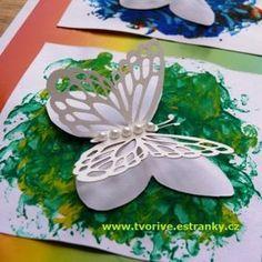 Stránky pro tvořivé - malé i velké - Jaro - Duhový obrázek s motýlky Spring Crafts For Kids, Church Crafts, Paper Crafts, Tableware, Handmade, Butterfly Metamorphosis, Butterflies, Spring, Carnavals