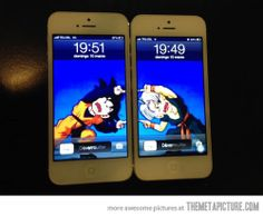Geek relationship, I love this.  <3 #iphone #dbz #fuckyeahdbz