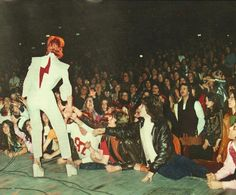 David Bowie performing at News York's Radio City Music Hall on February 14,1973.