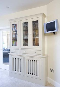 Farrow and Ball Painted Kitchens | Woodale Designs Carlow - radiator cover dresser
