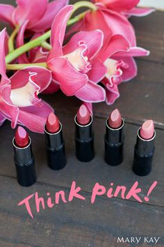 When in doubt, think pink! Try Mary Kay® Creme Lipstick for long-wearing formula that goes on smoothly and gives the right amount of color.