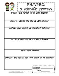 worksheet on the scientific process