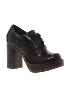 Zigi Soho Chunky Heeled Lace Up Shoe