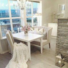 90 Amazing Small Dining Room Decor Ideas - Home Cozy Apartment Decor, Condo Decorating, Decorating Ideas, Decor Ideas, Room Ideas, Interior Decorating, Small Dining, Deco Design, Design 24