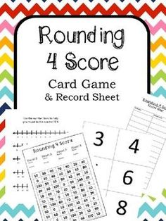 Rounding to Tens Game 4 Score Very Fun Games, Fun Math Games, Teaching Place Values, Teaching Math, Maths, Teaching Ideas, Rounding Activities, Classroom Activities, Game Cards